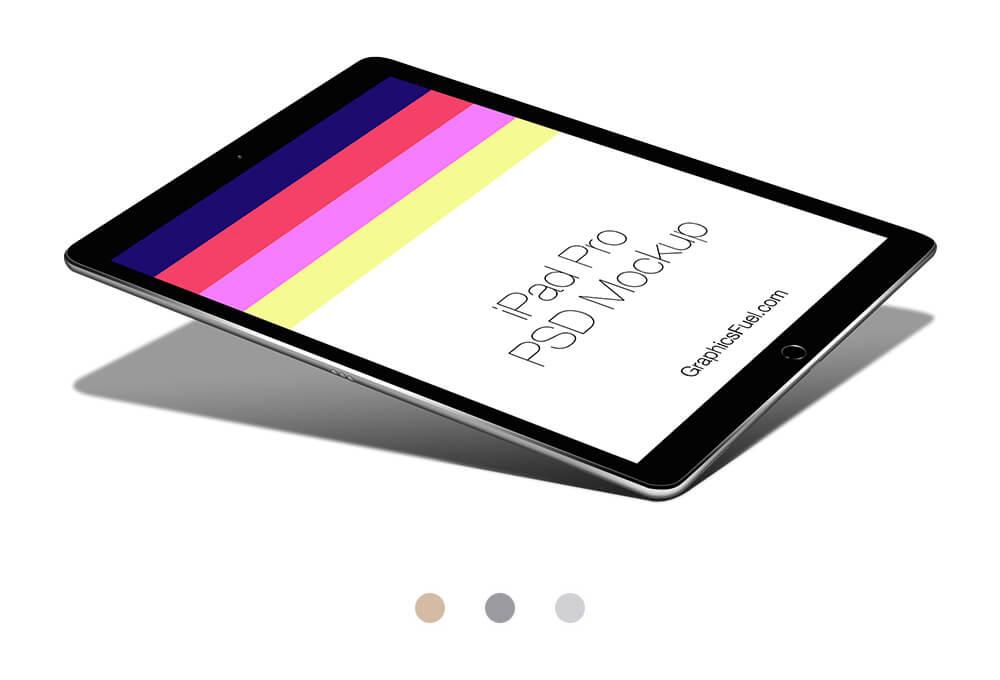 Free Apple iPad Pro Mockup PSD Template (1)
