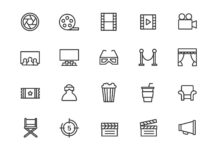 Free Box Office Movie & Cinema Vector Icons (1)