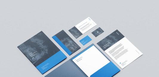 Free Branding Modern Stationery Mockup PSD Template (1)