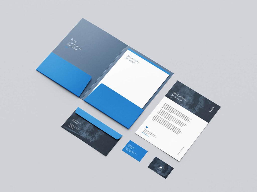 Free Branding Modern Stationery Mockup PSD Template2 (1)