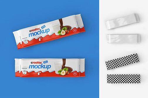 Free Crunchy Bar Package Mockup Set PSD Template2 (1)
