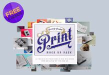 Free Demo Print Mockup Pack PSD Template (1)