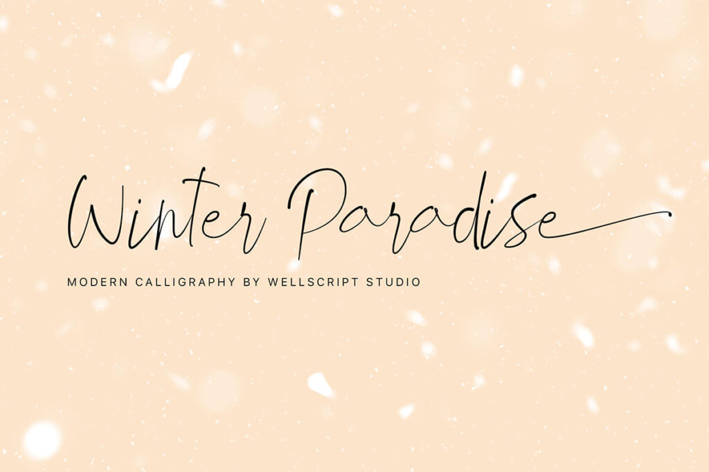 Free Demo Winter Paradise Script Font (1)