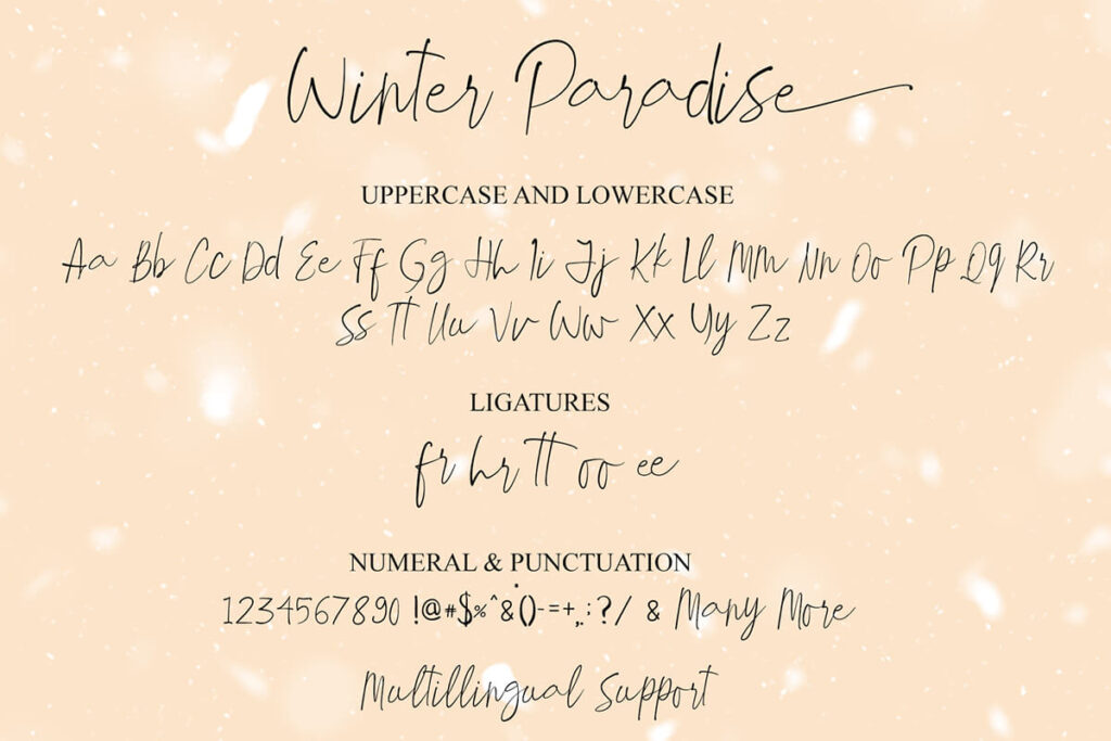 Free Demo Winter Paradise Script Font3 (1)