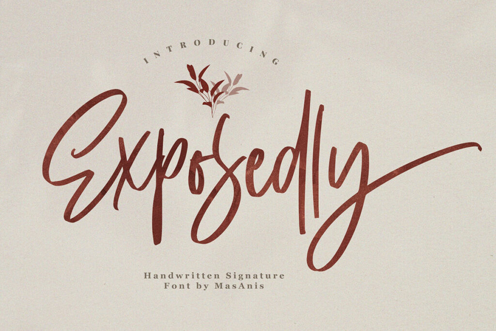 Free Exposedly Script Font (1)