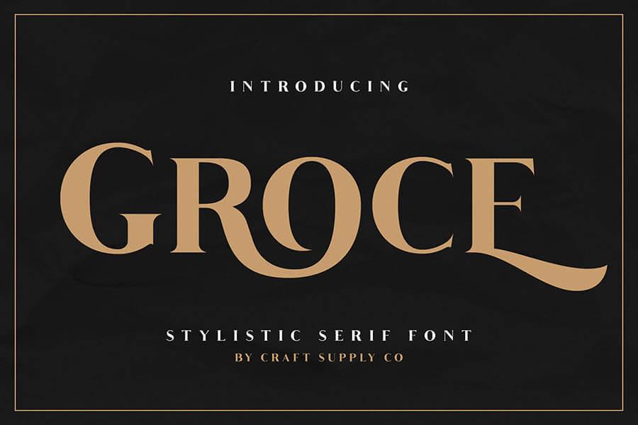 Free Groce Stylistic Serif Font (1)