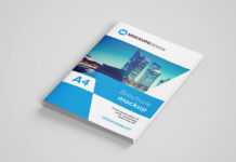 Free Highly Customizable A4 Brochure Mockup PSD Template (1)