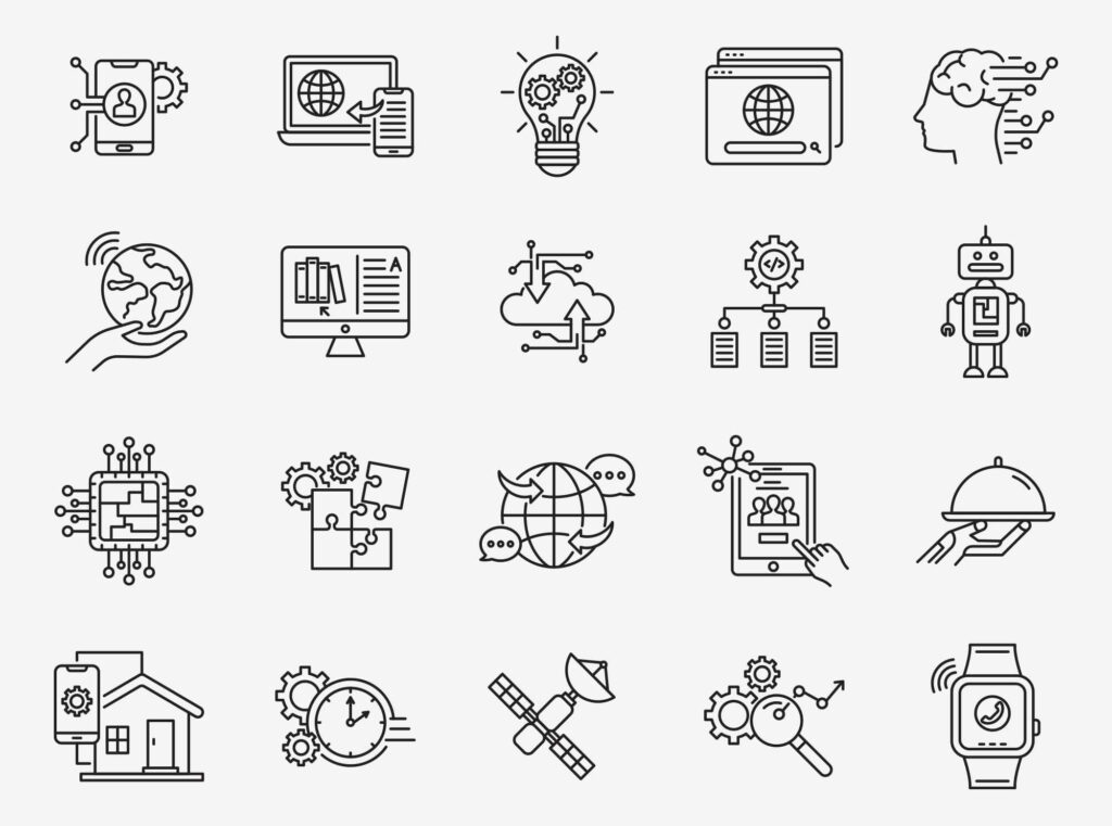 Free Illustrative Technology Vector Icons (1)