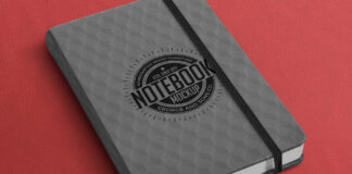 Free Large Notebook Mockup PSD Template (1)