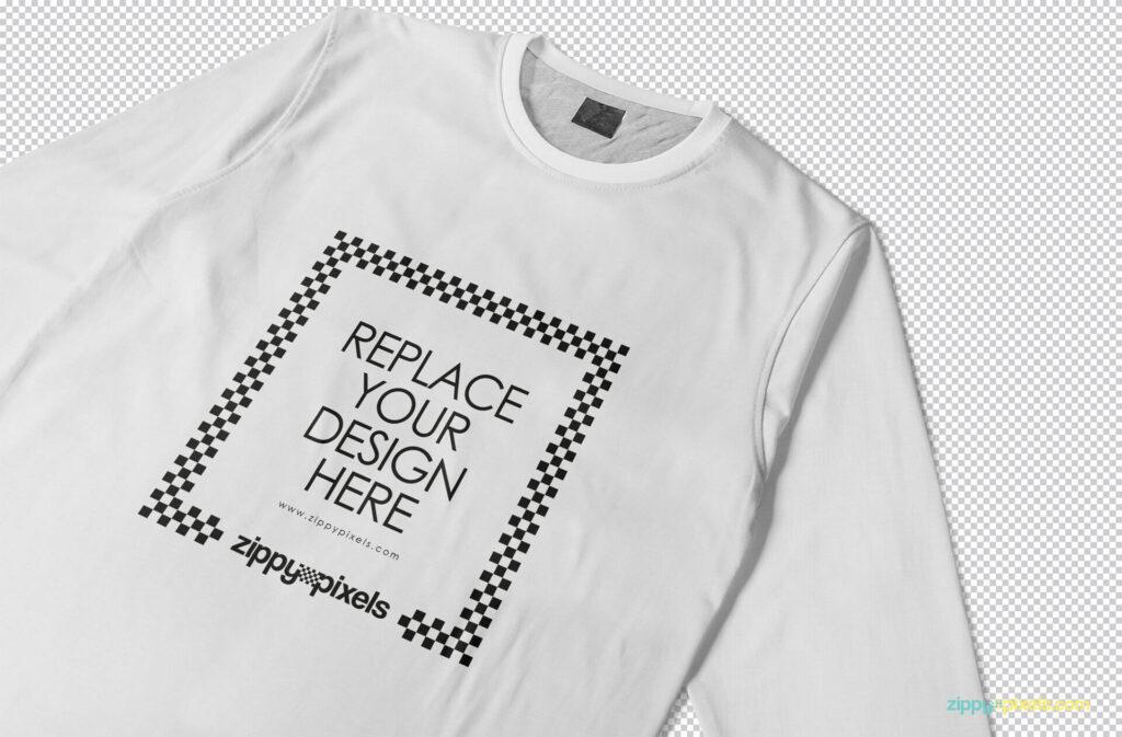 Free Long Sleeve T-shirt Mockup PSD Template (1)