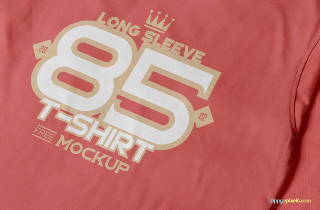 Free Long Sleeve T-shirt Mockup PSD Template2 (1)