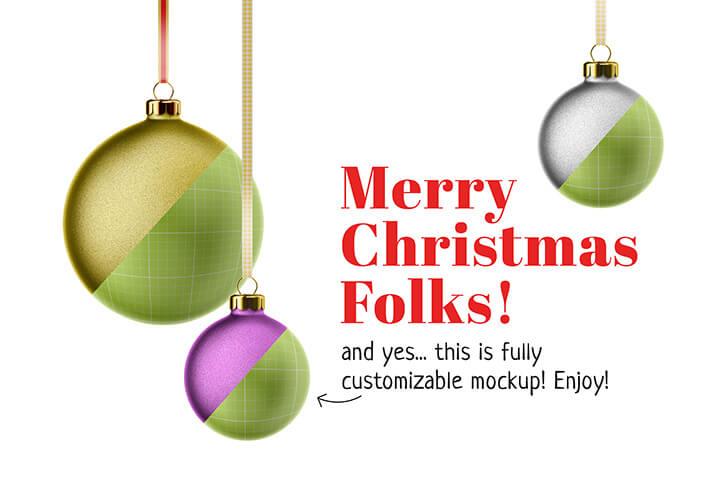 Free Marry Christmas Card Mockup PSD Template2 (1)