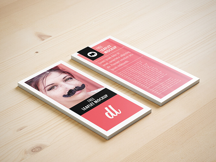 Free Modern And Isometric DL Leaflet Mockup PSD Template1 (1)