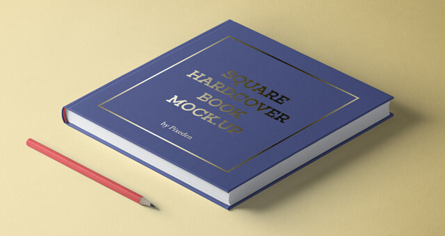 Free Modern Square Hardcover Book Mockup PSD Template (1)