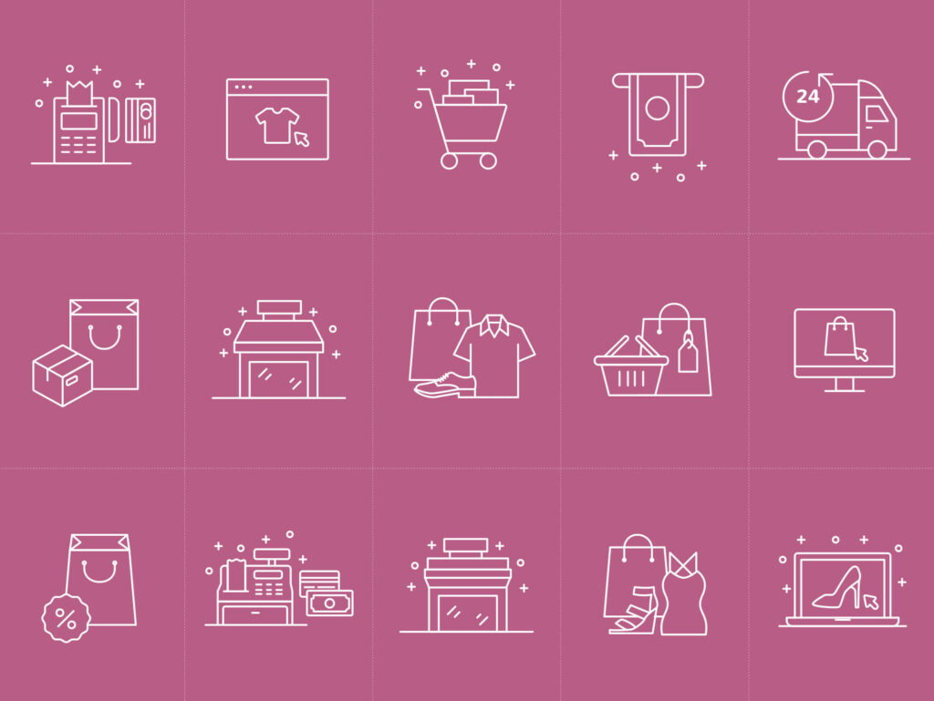Free New E-commerce Vector Icons (1)