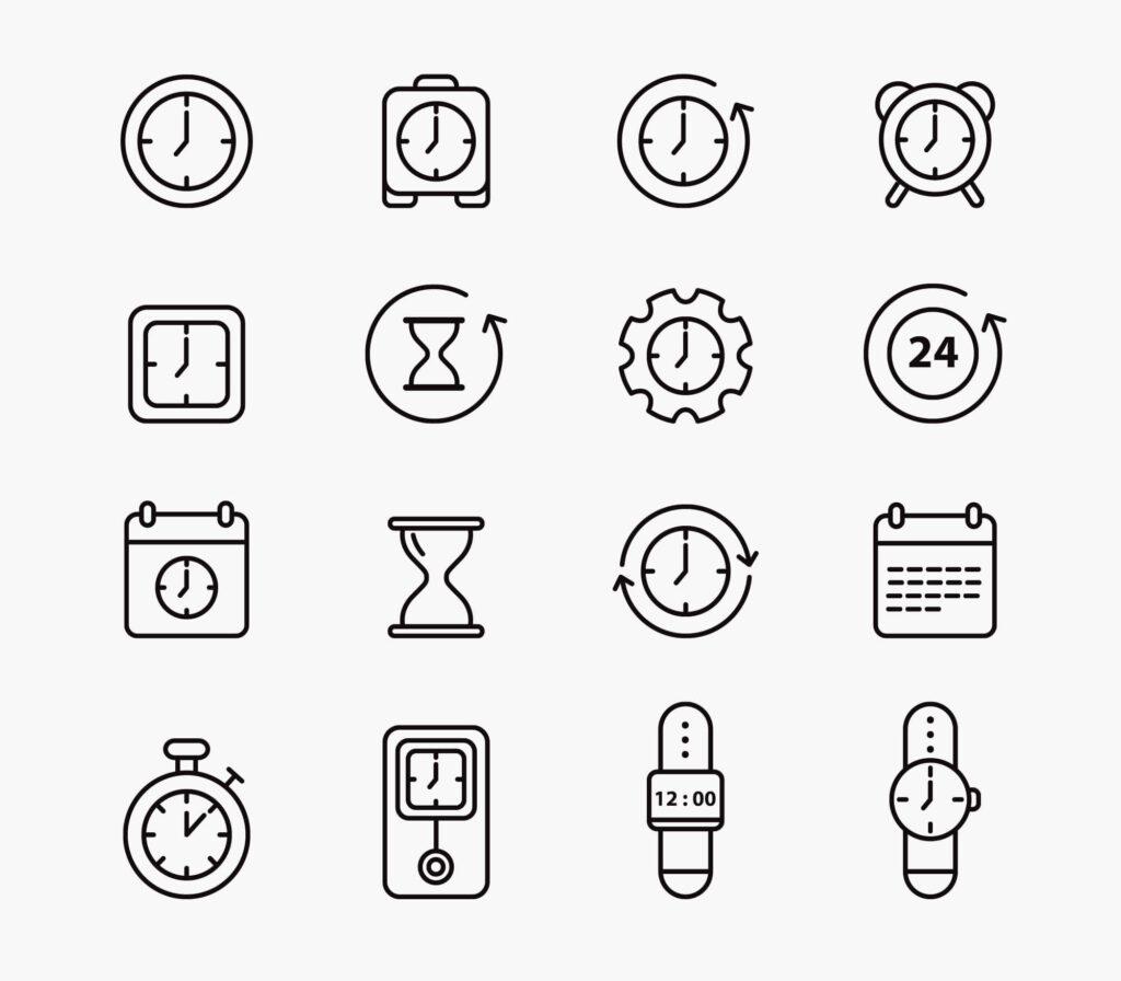 Free Precious Time Vector Icons (1)