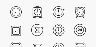 Free Precious Time Vector Icons (1)