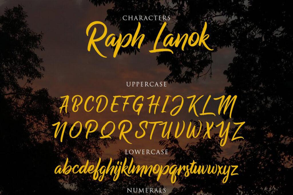 Free Raph Lanok Script Font Demo3 (1)