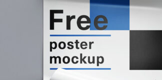 Free Rolled Poster Mockup PSD Template (1)