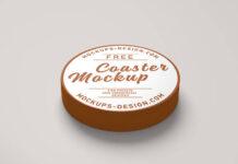 Free Round Coaster Mockup PSD Template (1)