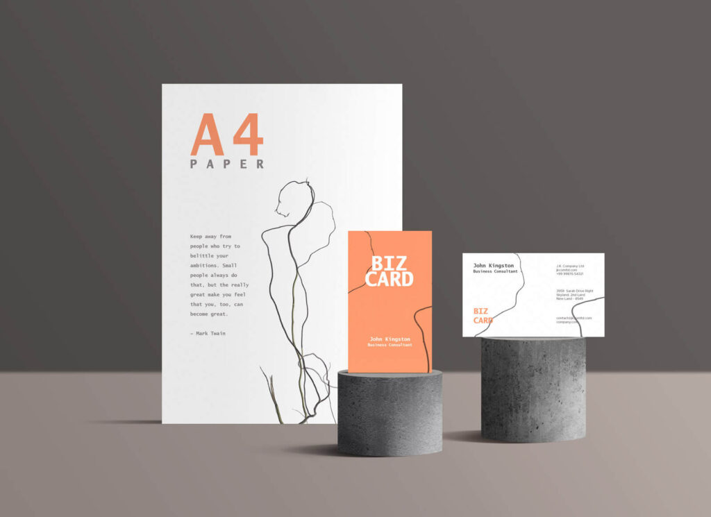 Free Standing Branding Stationery Mockup PSD Template (1)