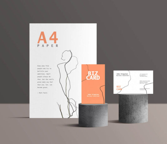 Free Standing Branding Stationery Mockup PSD Template (1)