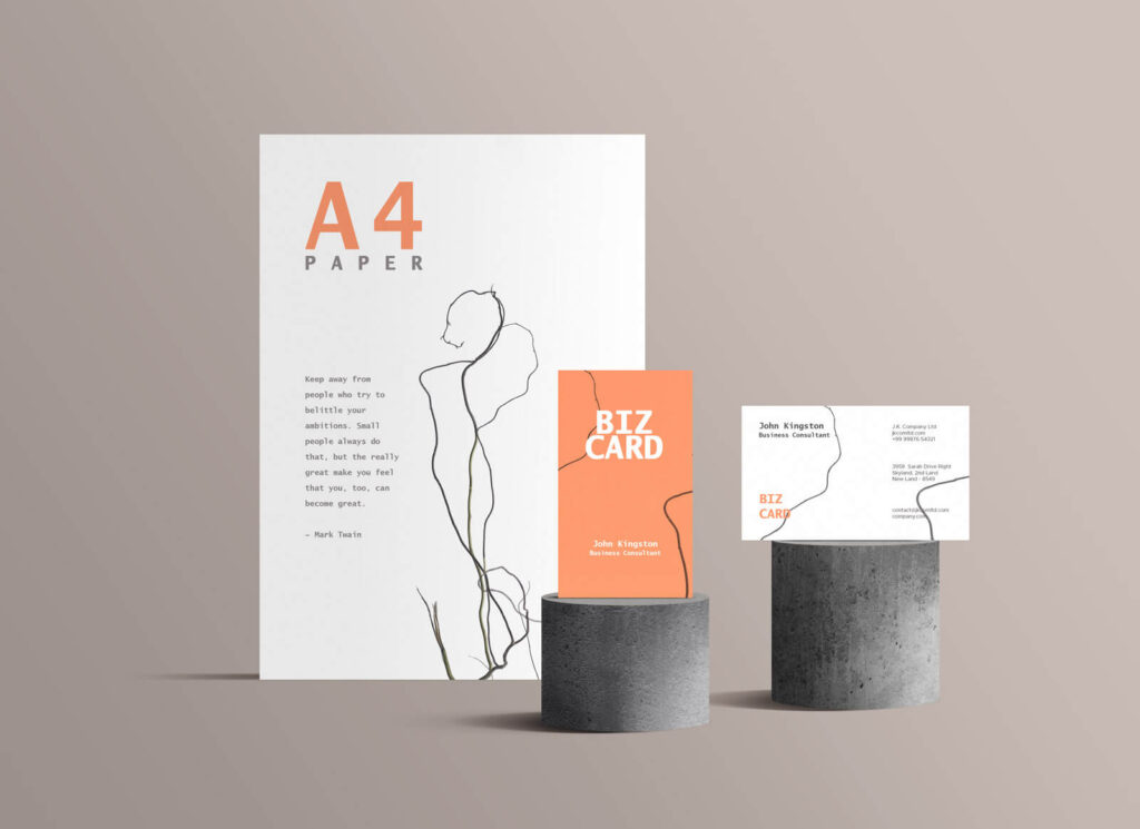 Free Standing Branding Stationery Mockup PSD Template1 (1)