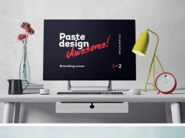 Free Surface Studio Mockup Scene PSD Template (1)