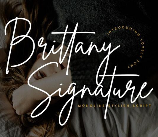 Free Wonderful Brittany Signature Script Font (1)