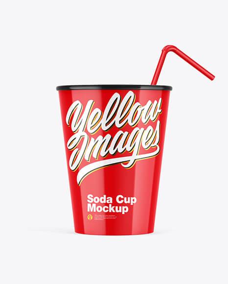 Glossy Soda Cup wStraw Mockup (1)