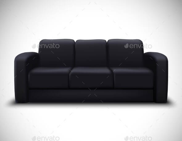 Interior Mockup Realistic Element Sofa Poster (1)