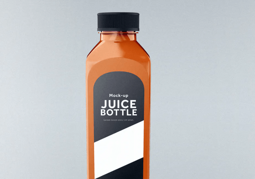 Juice Bottle Mock-Up Template
