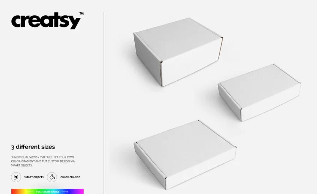 Mailing Box 2 Mockup Set