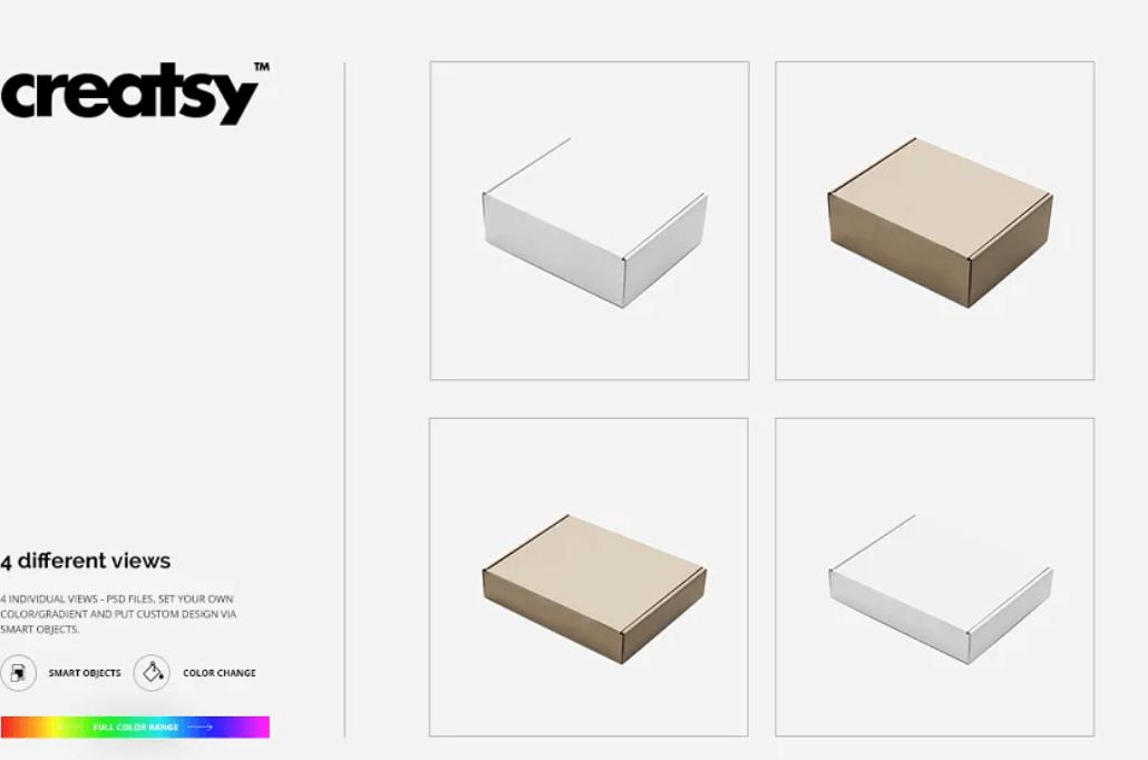 Mailing Box Mockup Set1