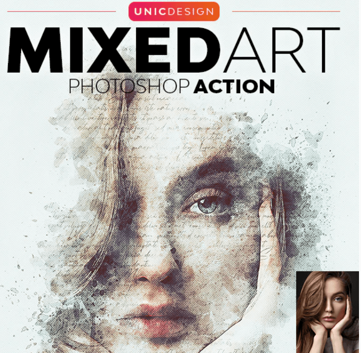 Mixed Art Photoshop Action2