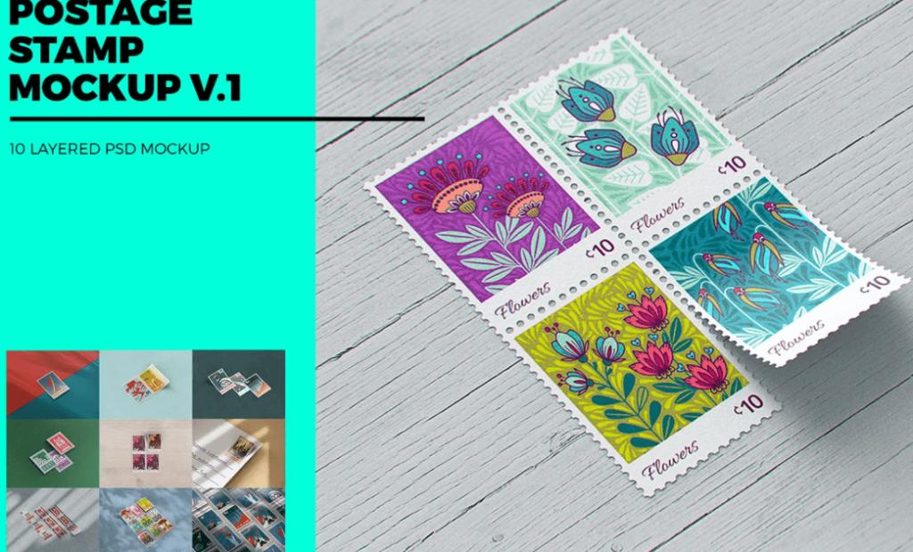 Postage Stamp MockUp v12