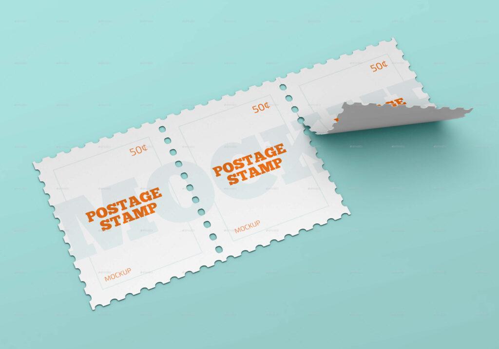 Postage Stamp Mockup Set (1)