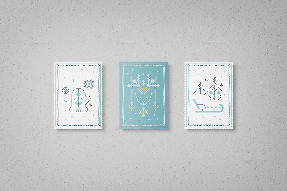 Postage Stamps Mock-Ups Vol.1 (1)