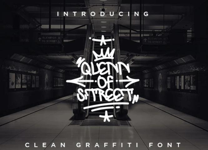 Quenn Of Street - Clean Graffiti Font (1)