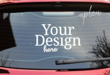 Rear Window Car Decal 2 Mockup