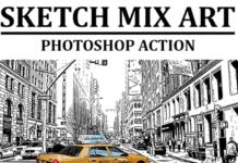 Sketch Mix Art Photoshop Action