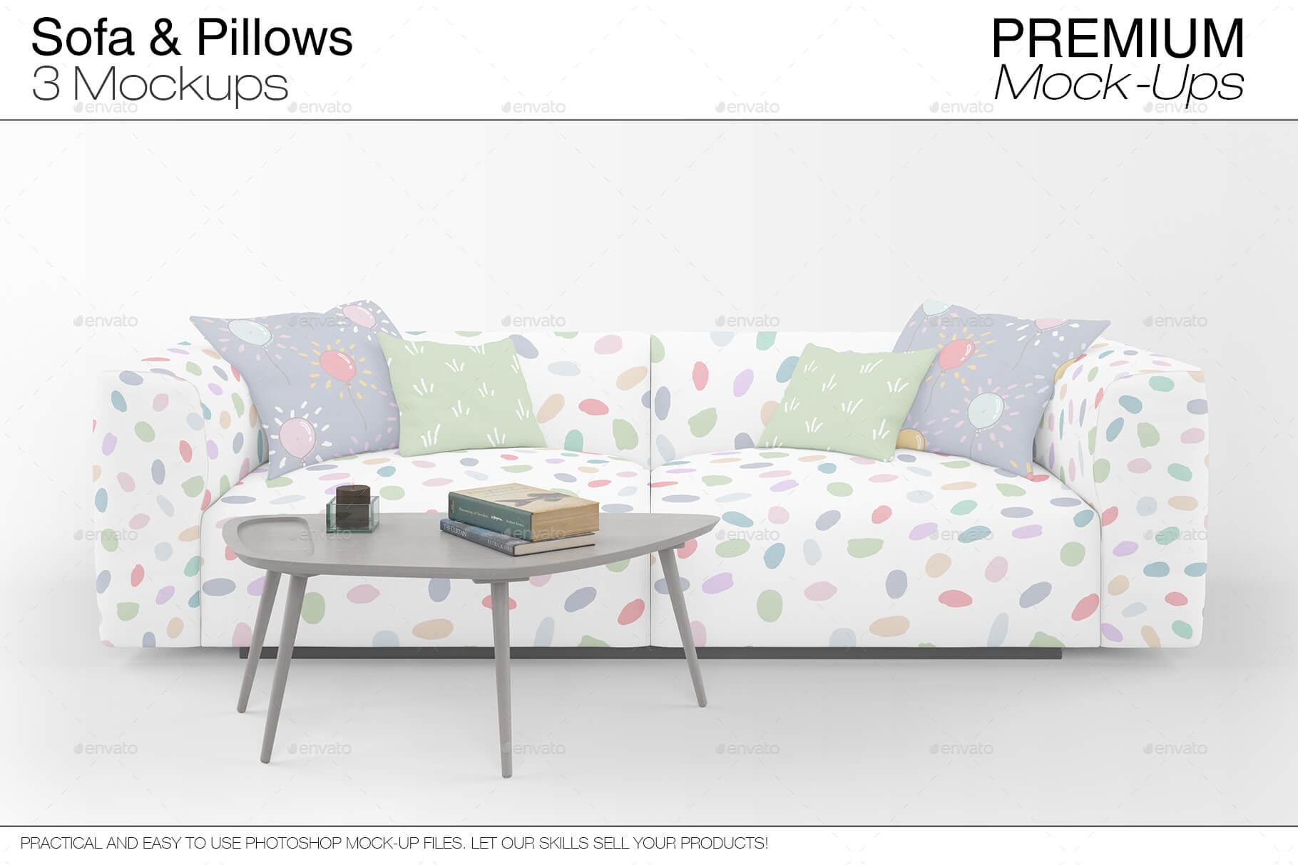 Sofa & Pillows Mockup Pack (1)