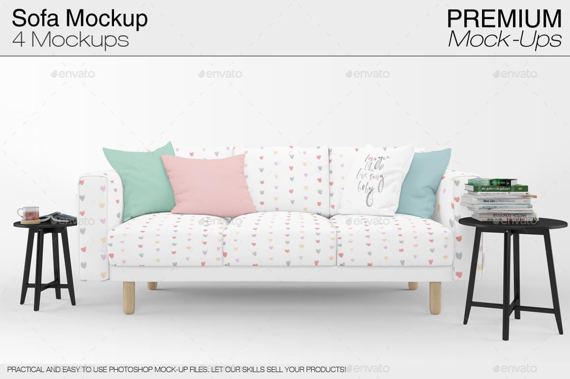 Sofa & Pillows Mockup Pack (2)