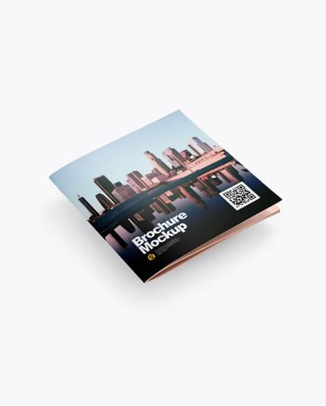 Square Brochure Mockup - Half Side View (1)