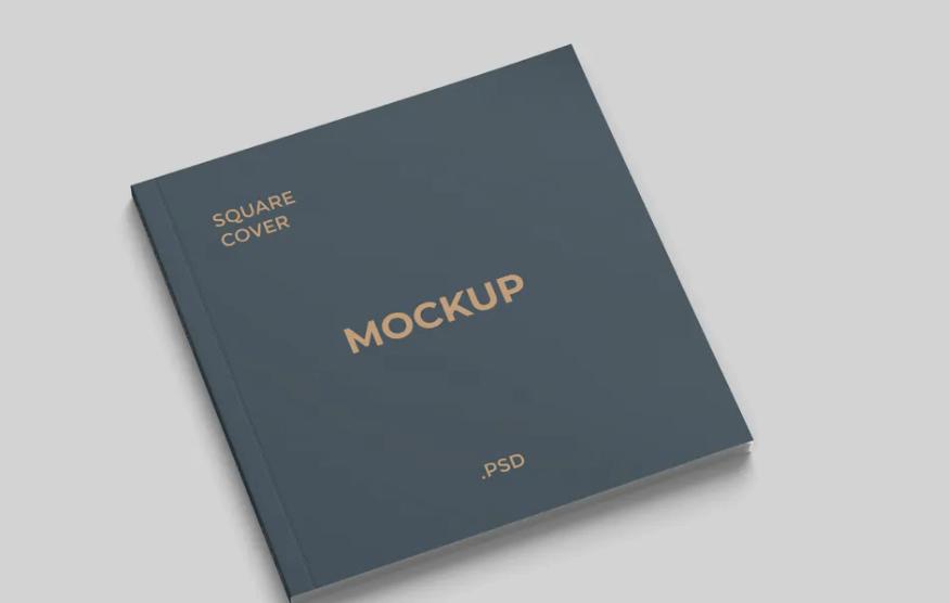 Square Magazine Cover Mockup