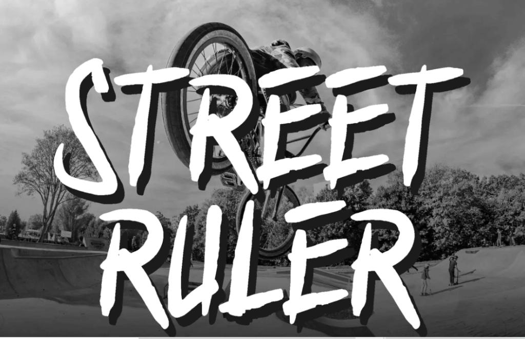 Street Ruler - Graffiti Font