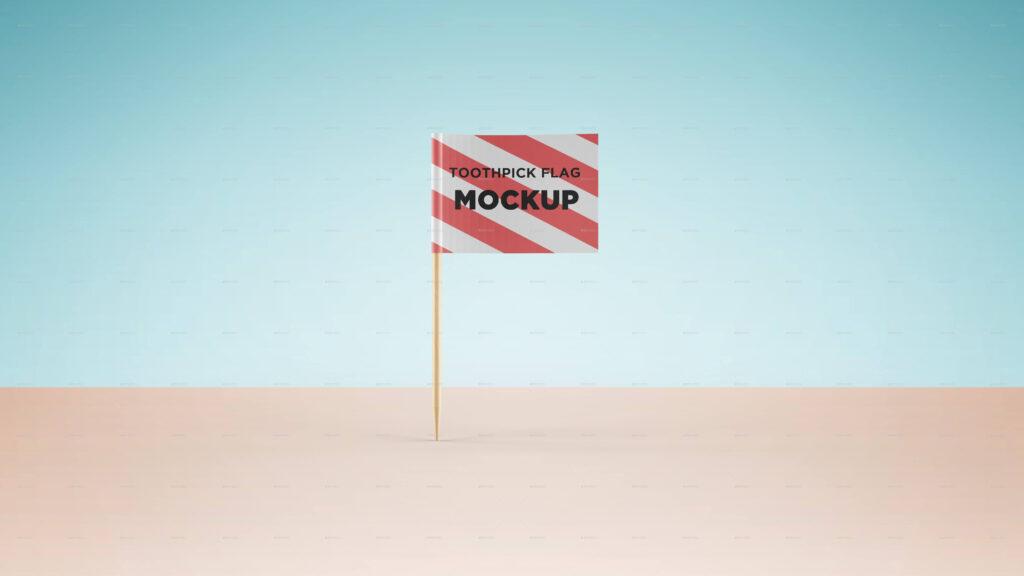 Toothpick Flag Mockup (1)