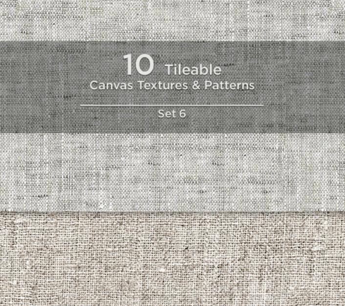 10 Tileable Canvas Textures