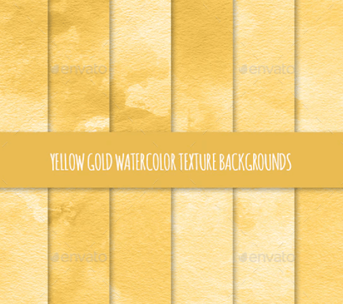 12 Yellow Gold Watercolor Texture Backgrounds