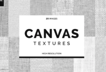 20 White Canvas Textures